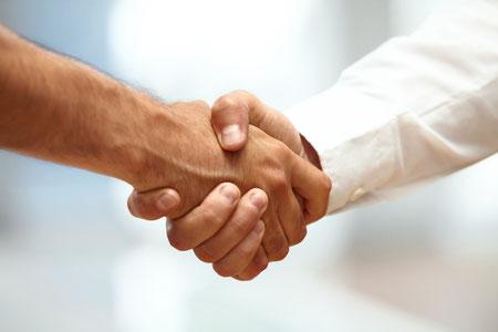 Handshake nach der Teleson-Energieberatung